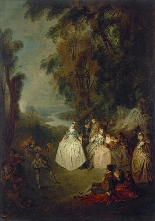 Dance under the Trees   Jean Baptiste Pater   Oil Painting