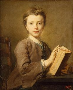 Portrait of a Boy with a Book | Jean Baptiste Perronneau | Oil Painting