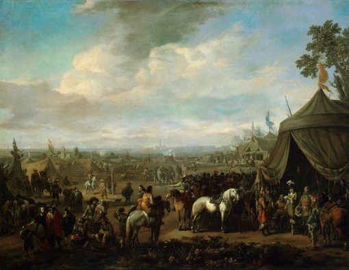 A Flemish Town Seiged by Spanish Soldiers | Johannes Lingelbach | Oil Painting