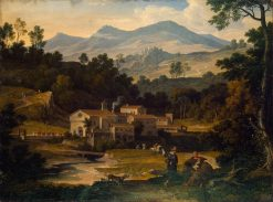 Monastery of San Francesco di Civitella in the Sabine Mountains | Joseph Anton Koch | Oil Painting