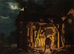 Iron Forge Viewed from Outside | Joseph Wright of Derby | Oil Painting
