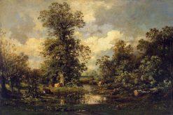 Forest Landscape | Jules DuprE | Oil Painting