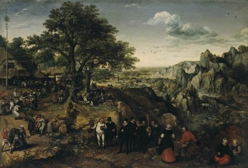 Landscape with a Rural Festival | Lucas van Valckenborch | Oil Painting