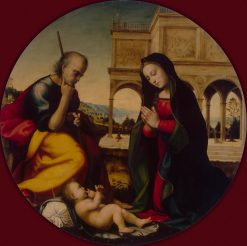 Adoration of the Christ Child | Mariotto Albertinelli | Oil Painting