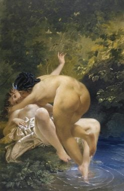 Jupiter and Callisto | Mihaly Zichy | Oil Painting