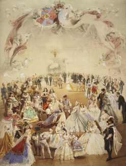Fancy Dress Ball in the Palace of Yelena Kochubei in Honour of Emperor Alexander II on 5 February 1 | Mihaly Zichy | Oil Painting