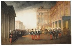 Parade infront of the Anichkov Palace 26 February 1870 | Mihaly Zichy | Oil Painting