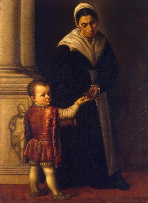 A Boy with His Nurse | Moretto da Brescia | Oil Painting