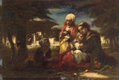 Turkish Family | Narcisse Dìaz de la Peña | Oil Painting