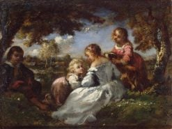 Children in a Garden | Narcisse Dìaz de la Peña | Oil Painting
