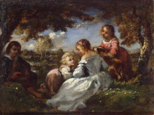 Children in a Garden | Narcisse Dìaz de la Peña | Oil Painting