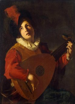 Lute Player | Nicolas Tournier | Oil Painting