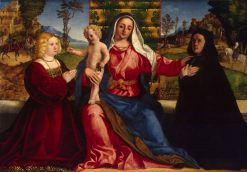 Madonna and Child with Donors | Palma il Vecchio | Oil Painting