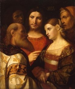 Christ and the Woman Taken in Adultery | Palma il Vecchio | Oil Painting