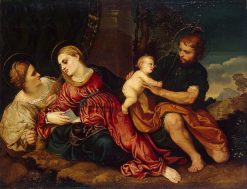 Holy Family with Saint Catherine | Paris Bordone | Oil Painting