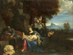 Rest on the Flight into Egypt   Pier Francesco Mola   Oil Painting
