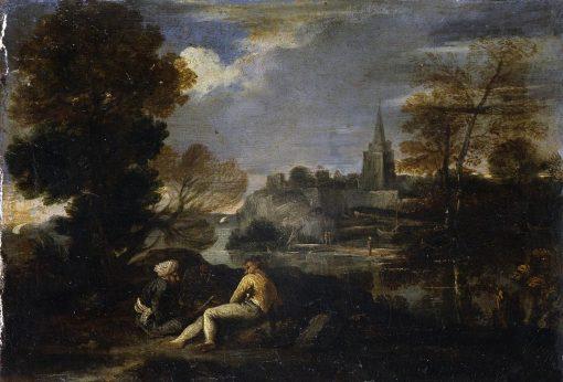 Landscape with Figures | Pier Francesco Mola | Oil Painting