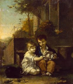 Children with a Rabbit | Pierre Paul Prud'hon | Oil Painting