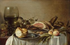 Breakfast with Ham | Pieter Claesz | Oil Painting