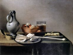 Tobacco Pipes and a Brazier   Pieter Claesz   Oil Painting