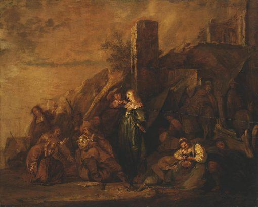 Halt of Travellers Among Ruins | Pieter Codde | Oil Painting