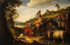 Abraham's Journey to Canaan | Pieter Lastman | Oil Painting