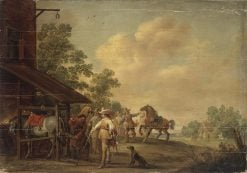 The Forge   Pieter Meulener   Oil Painting