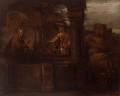 Christ and the Samaritan Woman | Rembrandt van Rijn | Oil Painting
