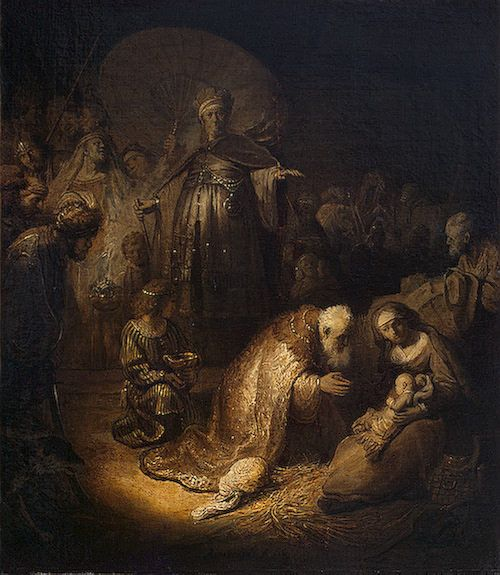 Adoration of the Magi | Rembrandt van Rijn | Oil Painting