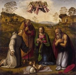 Holy Family with Saints Francis and Jerome | Ridolfo Ghirlandaio | Oil Painting