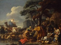Jacob Burying Laban's Images | Sebastien Bourdon | Oil Painting