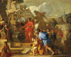 Augustus before the Tomb of Alexander | Sebastien Bourdon | Oil Painting