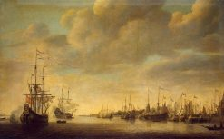 Arrival of Willem of Orange in to Rotterdam | Simon de Vlieger | Oil Painting
