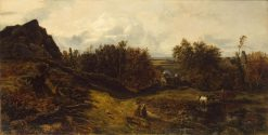 View of the Outskirts of Granville | ThEodore Rousseau | Oil Painting