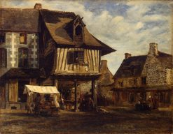 Market Place in Normandy | ThEodore Rousseau | Oil Painting