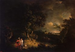 Landscape with Dido and Aeneas (Storm) | Thomas Jones | Oil Painting