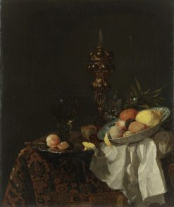 Still Life: Siver-Gilt Goblet and Bowl of Fruit | Willem Kalf | Oil Painting