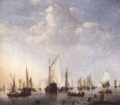 Ships in the Roads | Willem van de Velde the Younger | Oil Painting
