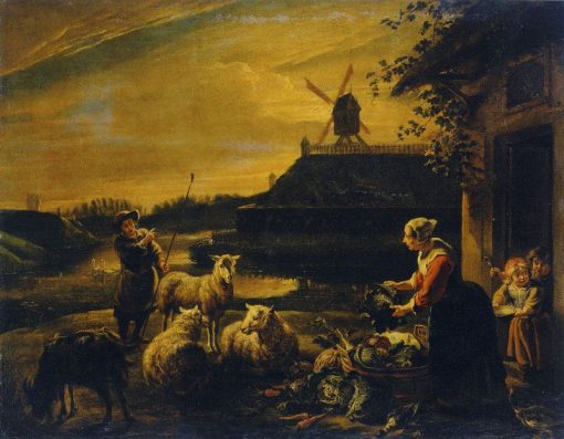 A Peasant Yard | Willem van Herp the Elder | Oil Painting