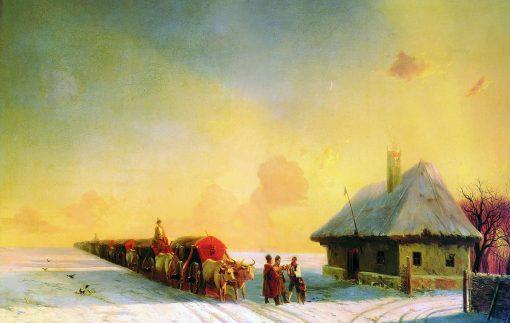 Chumaks in Ukraine   Ivan Constantinovich Aivazovsky   Oil Painting