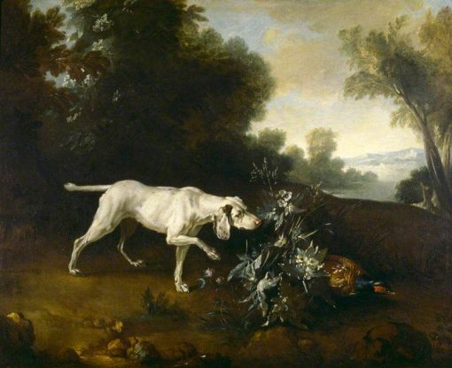 A Dog Pointing a Pheasant in a Landscape | Jean Baptiste Oudry | Oil Painting