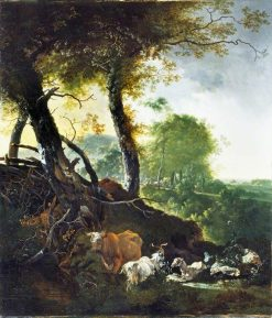 Landscape with Animals | Adam Pynacker | Oil Painting