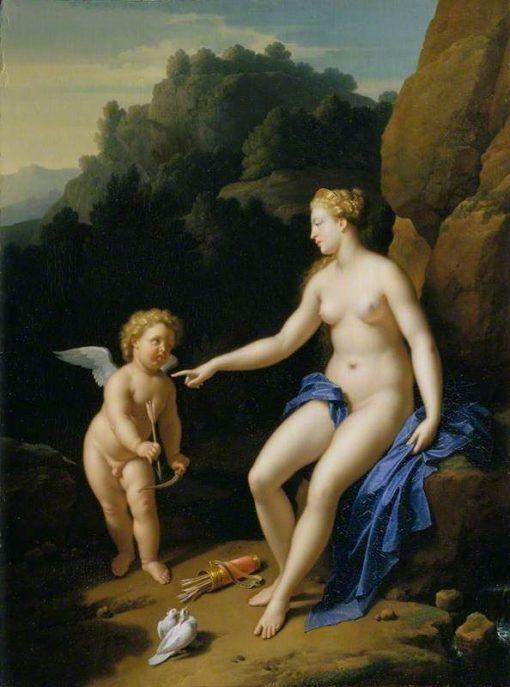 Venus and Cupid   Adriaen van der Werff   Oil Painting