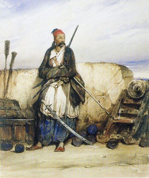 A Turkish Gunner | Alexandre Gabriel Decamps | Oil Painting