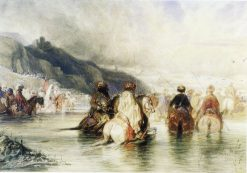 Crossing the River | Alexandre Gabriel Decamps | Oil Painting