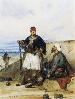 Eastern Soldiers | Alexandre Gabriel Decamps | Oil Painting