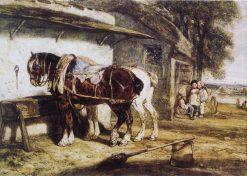 Cart Horses | Alexandre Gabriel Decamps | Oil Painting