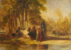 Eastern Figures Reposing | Alexandre Gabriel Decamps | Oil Painting