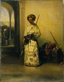 Soldier of the Guard of Vizier | Alexandre Gabriel Decamps | Oil Painting