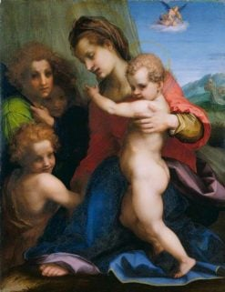 The Virgin and Child with the Infant Baptist | Andrea del Sarto | Oil Painting
